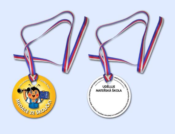 Barevné kamínky - Medaile ze školičky