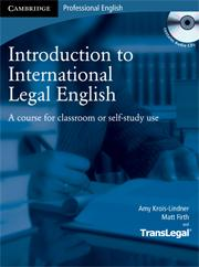 Introduction to International Legal English + audio CD - Krois-Lindner A., Firth M. - 195x263 mm, brožovaná