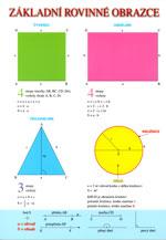 Základní rovinné obrazce/Prostorová tělesa - tabulka lamino A4