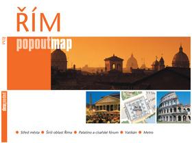 Řím - plán Popoutmap - kapesní rozkladací mapa /Itálie/