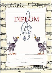 Diplom A5 - Noty s ptáčky