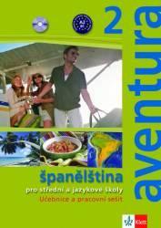 Aventura 2 - Španělština pro střední a jazykové školy - učebnice a pracovní sešit + CD /2 ks/