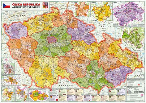 ČR 1:320 - administrativní mapa 160x114cm - 160x114 cm