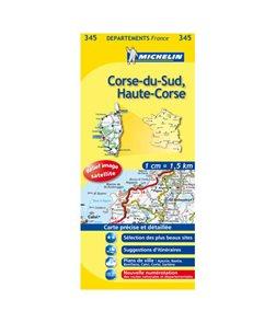 Korsika - mapa Michelin č.345 - 1:150 000
