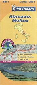 Itálie - Abruzzo, Molise - mapa Michelin č.361 - 1:200 000