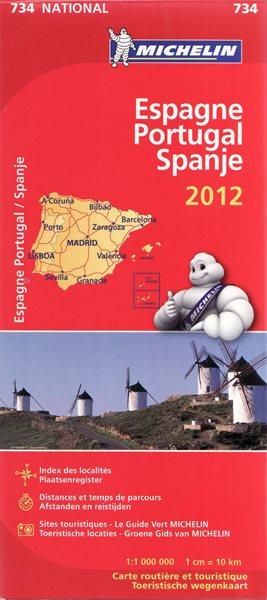 Španělsko, Portugalsko - mapa Michelin č.734 - 1:1 000 000