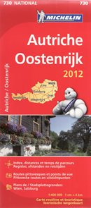Rakousko - mapa Michelin č.730 - 1:400 000