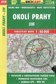 Okolí Prahy - jih - mapa SHOCart č. 419 - 1:40 000