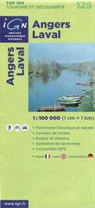 Francie - Angers Laval - mapa IGN č.125 - 1:100 000