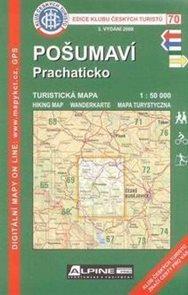 Pošumaví - Prachaticko - mapa KČT č.70 - 1:50t