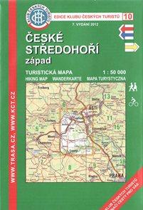České středohoří - západ - mapa KČT č.10 - 1:50t