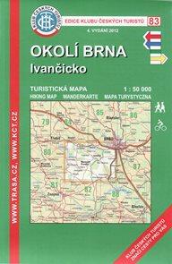 Okolí Brna - Ivančicko - mapa KČT č.83 - 1:50t