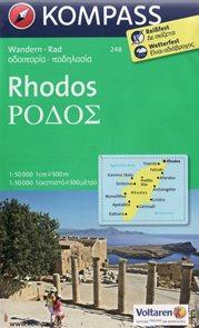 Řecko - Rhodos - mapa KOM248 - 1:50t