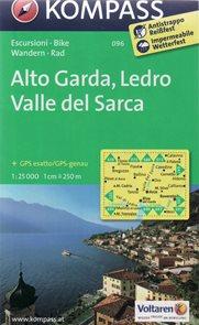 Alto Garda, Val di Ledro - mapa Kompass č.096 - 1:25t /Itálie/