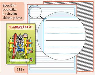 Písankový sešit s pomocnými linkami 512