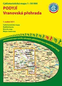 Podyjí - Vranovská přehrada - cyklomapa Klub českých turistů 1:50 000 - 1. vydání 2011