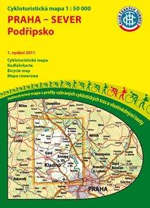 Praha - sever - Podřipsko - cyklomapa Klub českých turistů 1:50 000 - 1. vydání 2011