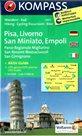 Pisa, Livorno, SAn Miniato, Empoli -  mapa Kompass č.2457 - 1:50 000 /Itálie/