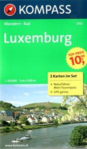 Luxemburg - set map Kompass č.2002 - 1:50 000