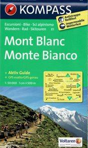 Mont Blanc - mapa Kompass č.85 - 1:50t /Švýcarsko,Itálie,Francie/