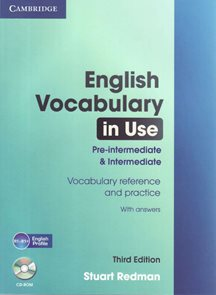 English Vocabulary in Use pre-intermediat and inter. with answers + CD-ROM, 3. edice