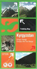Kyrgyzstan - Kungey Ala-Too Range - 1:100 000