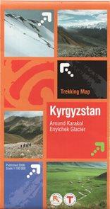 Kyrgyzstan - Around Karakol, Enylchek Glacier - 1:100 000