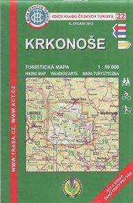Krkonoše - mapa KČT č.22 - 1:50t