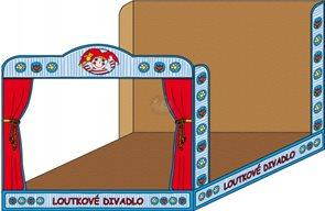 Loutkové divadlo - prázdné ( modré kartonové)