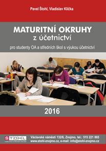 Maturitní okruhy z účetnictví 2016 pro studenty OA a středních školy s výukou účetnictví