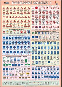 Dopravní značky 1 XL - výukový plakát