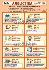 Anglická nepravidelná slovesa 3 - skládačka A5