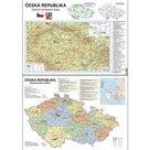 Podložka - ČR mapa na A3 admin.+ob.zem lamino