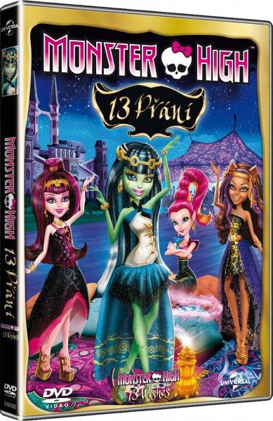 DVD Monster High: 13 přání - 13x19