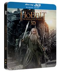 Hobit: Šmakova dračí poušť 4 Blu-ray steelbook - Peter Jackson - 13x19