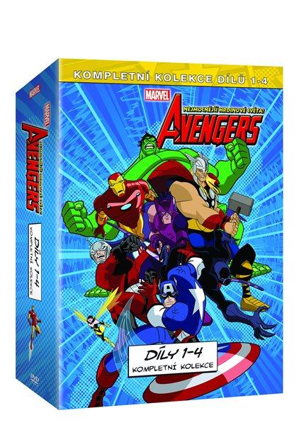 The Avengers: Nejmocnější hrdinové světa kolekce 4 DVD - 13x19
