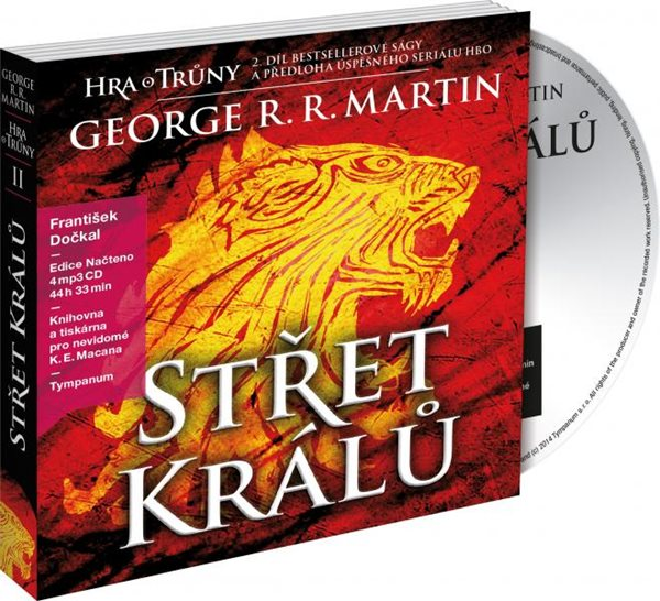 CD Střet králů - Hra o trůny 2. - George R. R. Martin - 13x19