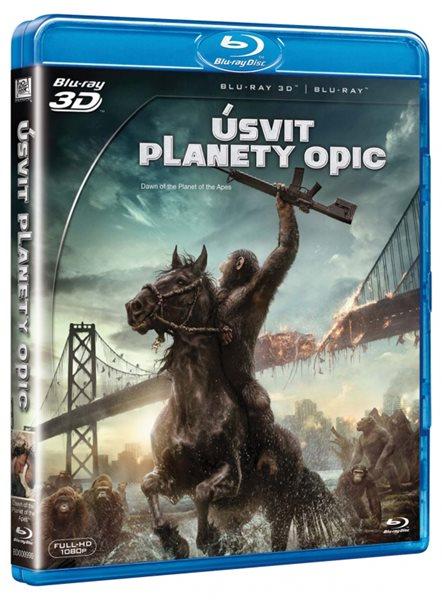 Úsvit planety opic 2 Blu-ray 3D + 2D - Matt Reeves - 13x19