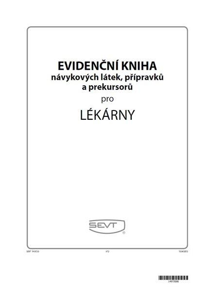 Evidenční kniha návykových látek pro lékárny - formát A4, 64 stran, vazba V3, kartonová obálka