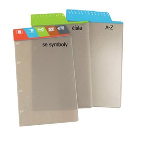 ADK Dělící listy čísla 1-5 šedé A5 (5 ks)