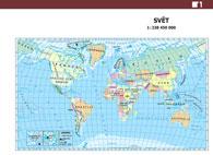 ADK Mapa světa a časová pásma A5 (1 dvojlist)