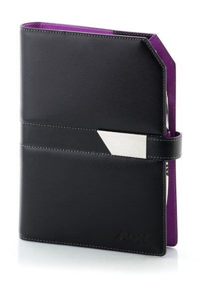 ADK Diář NewClassic A5 2021 - černá/fialová