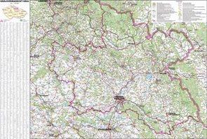 Kraj - Královéhradecký -ZES- 1:125 000 - nástěnná mapa