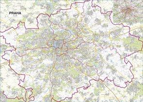 Praha -ZES- 1:21 000 - nástěnná mapa