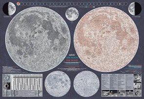 Měsíc - nástěnná mapa
