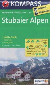 Stubaiské Alpy - mapa Kompass č.83 - 1:50t /Rakousko,Itálie, Stubaier Alpen/