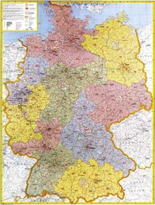 Německo - 1:700 000 -  mapa