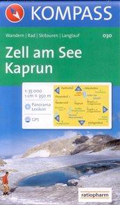 Zell am See, Kaprun - mapa Kompass č.030 - 1:30 000 /Rakousko/