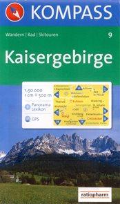 Kaisergebirge - mapa Kompass č.9 - 1:50t /Německo,Rakousko/