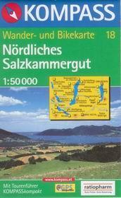 Nrdliches Salzkammergut - mapa Kompass č.18 - 1:50t /Rakousko/